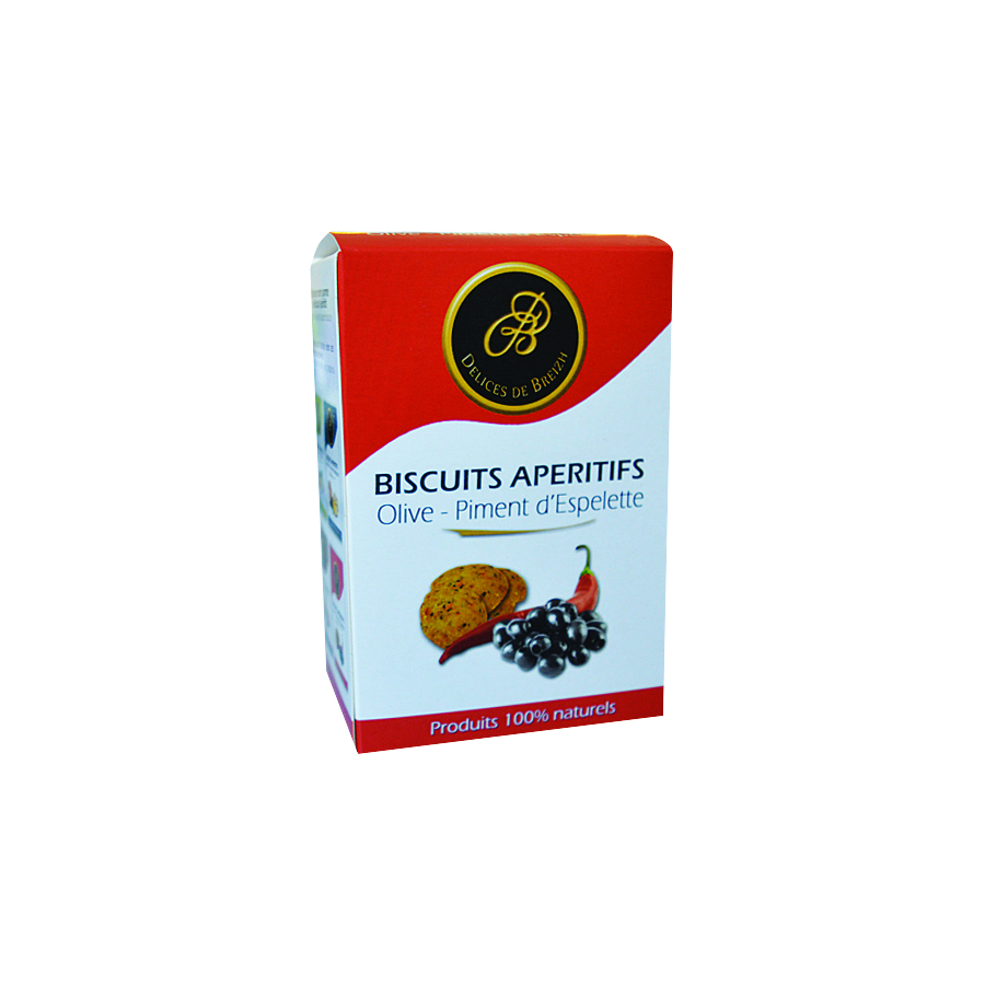 BISCUIT APERITIF OLIVE PIMENT 90G