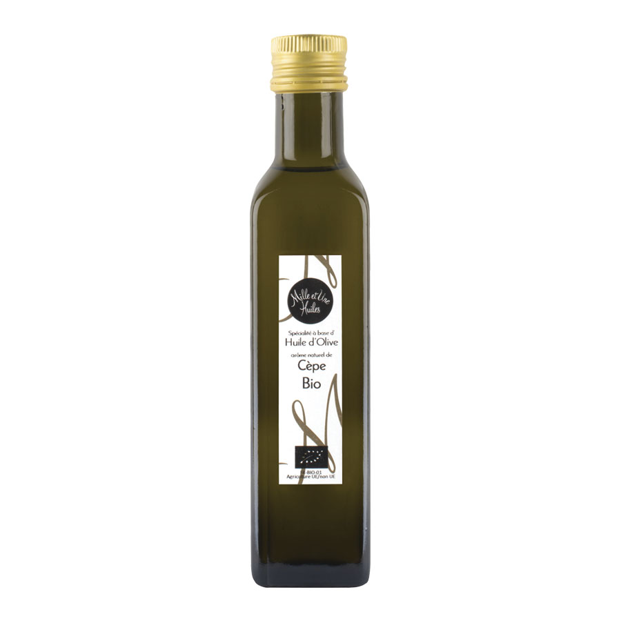 HUILE D'OLIVE AROMATISEE AUX CEPES 250ML