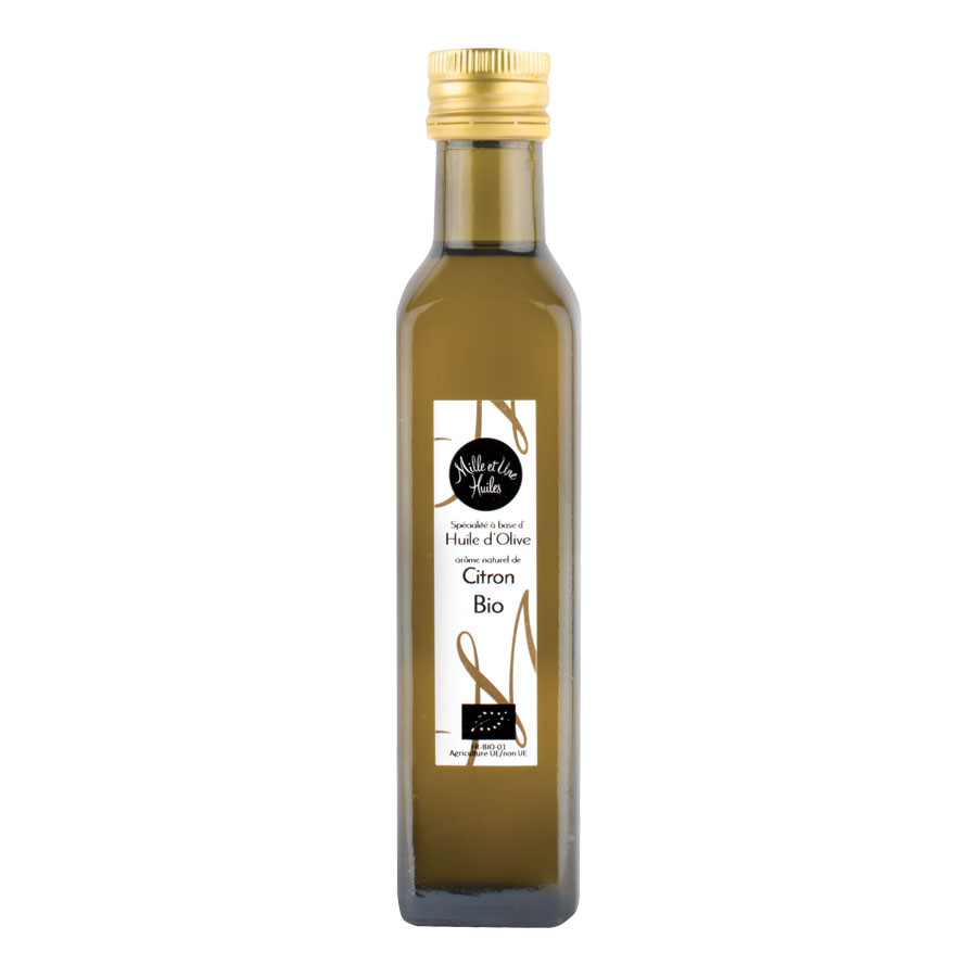 HUILE D'OLIVE AROMATISEE AU CITRON 250ML