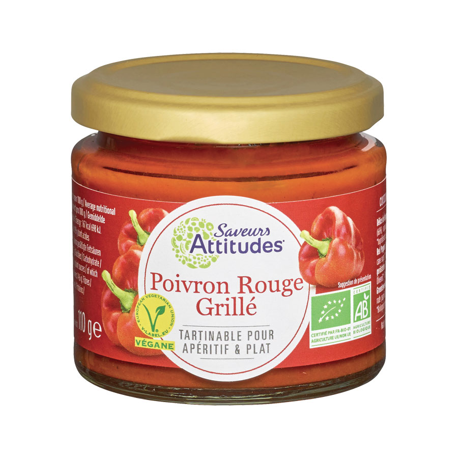 POIVRONS ROUGES GRILLEES 110G