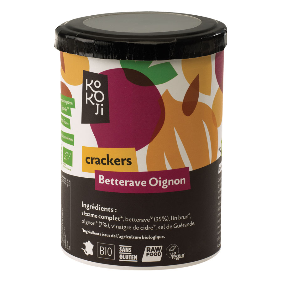 CRAKERS BETTERAVE OIGNON 80G