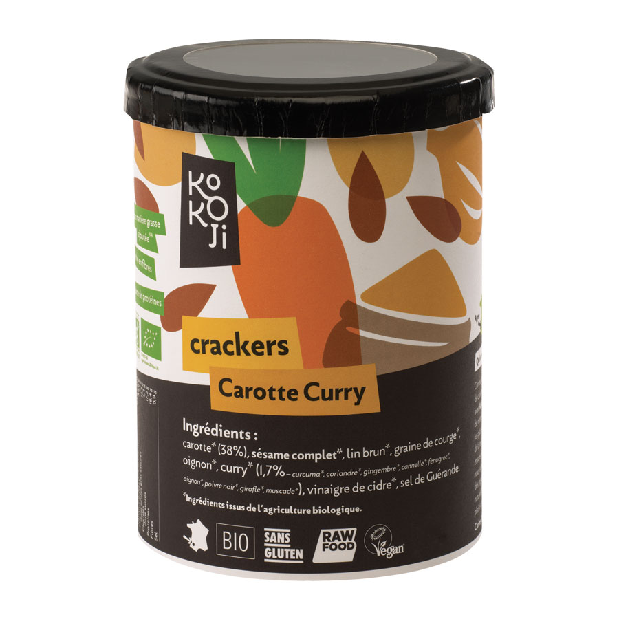 CRAKERS CAROTTE CURRY 80G