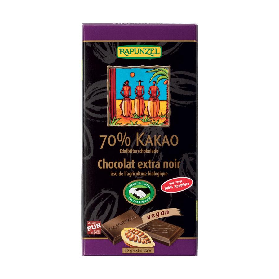 CHOCOLAT EXTRA NOIR 70% 80G