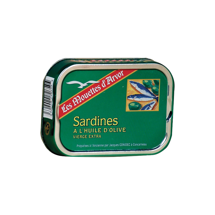 SARDINES A L'HUILE D'OLIVE VIERGE EXTRA 1/6 115G